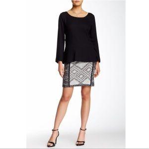 Anthropologie Ella Moss Patterned Knit Skirt NWT L